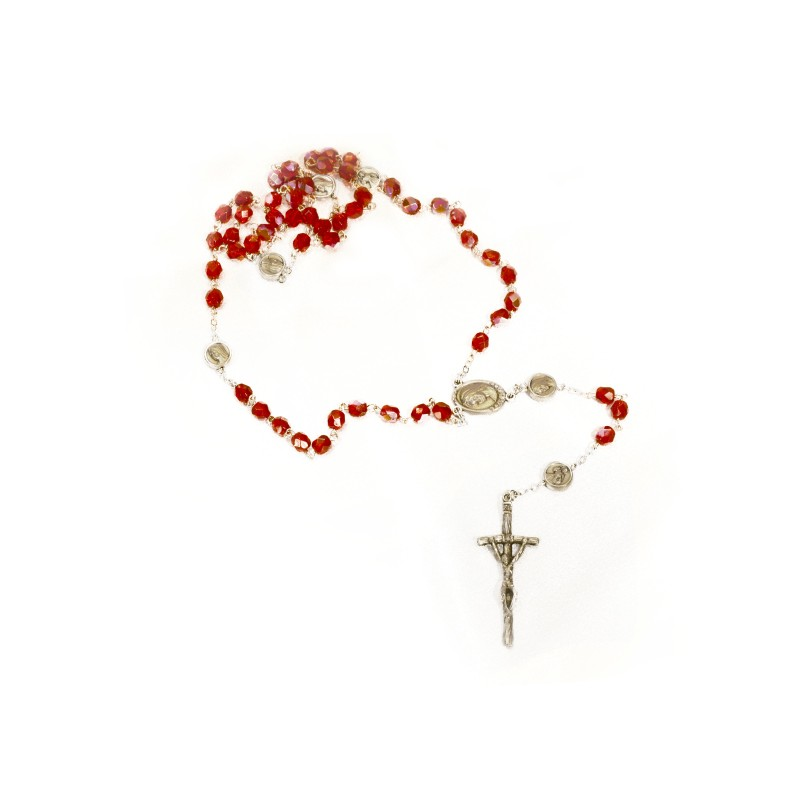 Iridescent Red Rosary