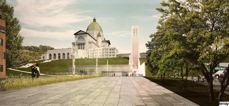 Entrée princiaple - projet d'aménagement - development project Main Entrance