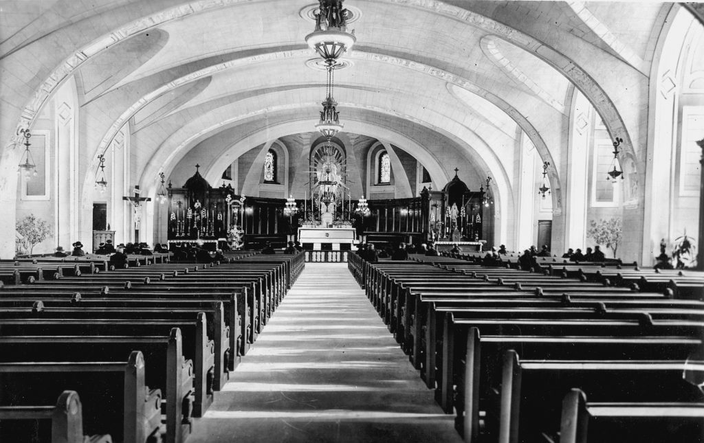 1920 - Interior Decoration of the Crypt Church.