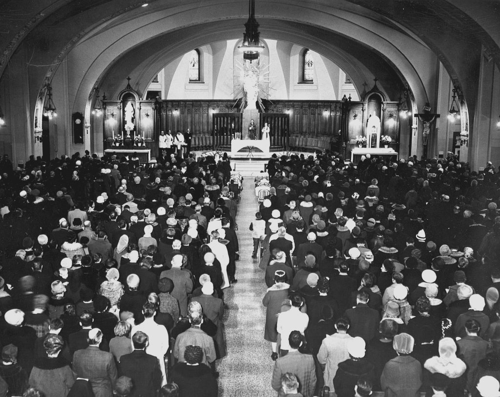 1969 - The Crypt Church's sanctuary is now reinstated, following Vatican II.