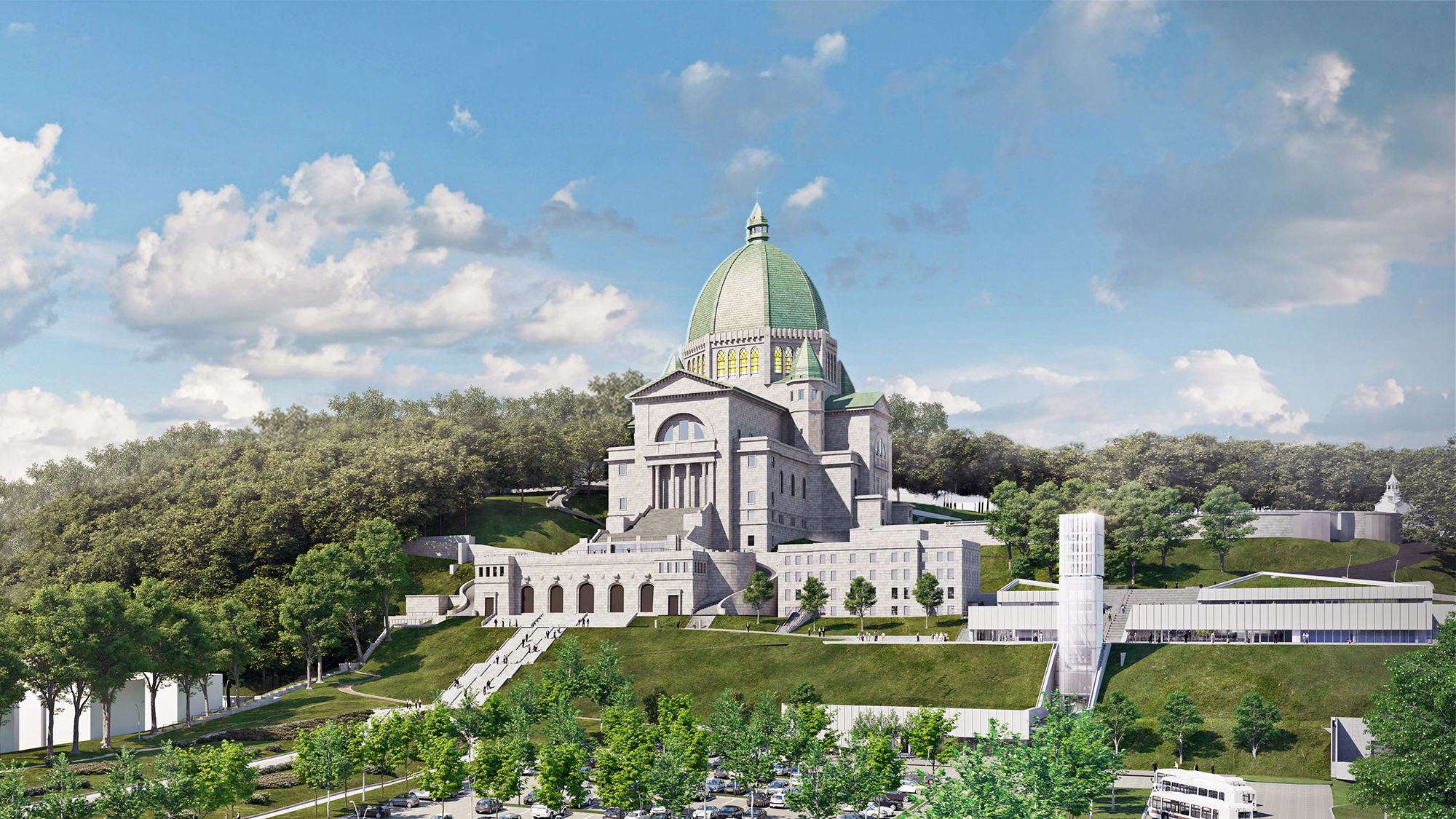 Visualization architecturale du grand projet d'aménagement de l'Oratoire // Reaching New Heights at Saint Joseph's Oratory