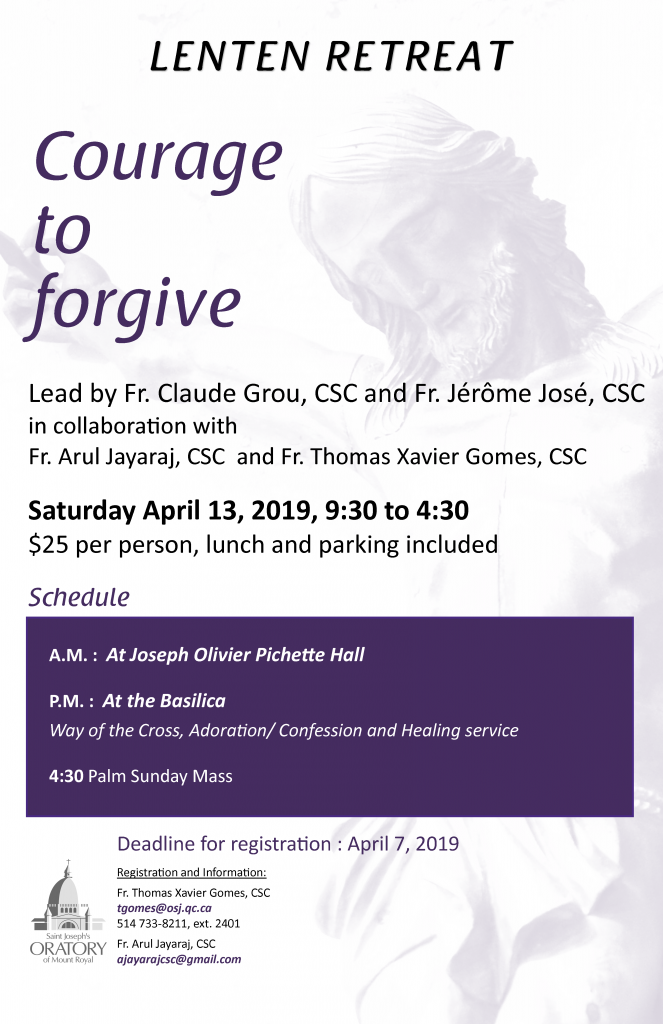 Lenten retreat 2019