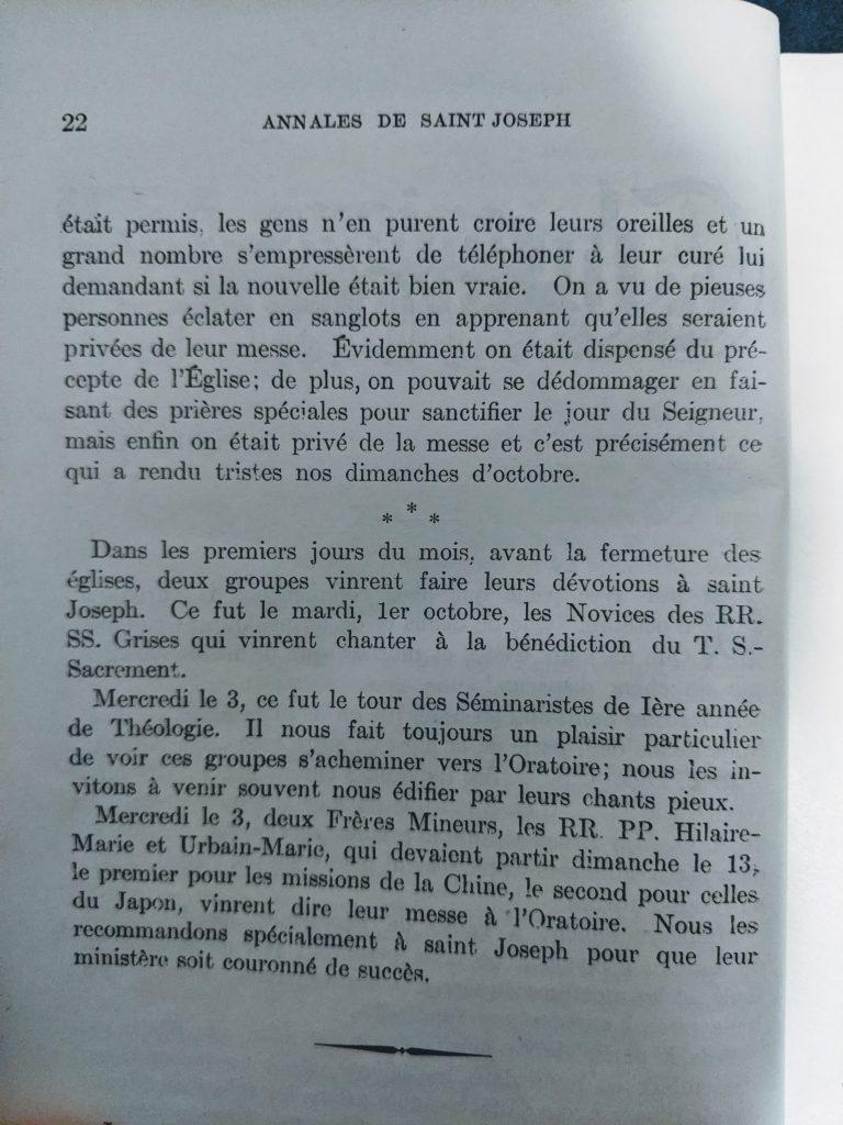 Annales de saint Joseph