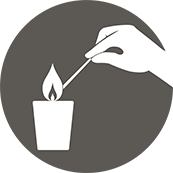 Allumer un lampion - Light a Votive Candle